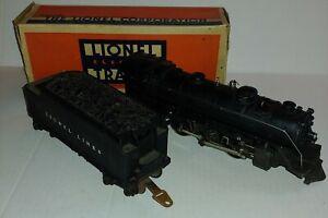 LIONEL 027 STEAM ENGINE # 1666 & 2666W LIONEL LINES WHISTLE TENDER  VG
