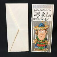 VTG 1967 Debonairs Greeting Card Native Tongue Birthday Cultural Ethnic Unused