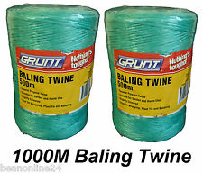 Bulk 1000 Metres (1km) Baling Twine - 2 x 500m Rolls - Bailing Twine