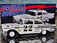 ACME 1957 Chevy Bel Air Fireball Roberts #22 1:18 Scale Diecast Model Race Car