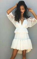 ASILIO White Lace High Society Twirly HiLo Dress sz 8 RRP $339 [ls