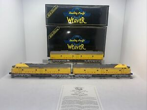 Weaver Gold Union Pacific E-8 ABA Diesels Used O Gauge Power AA UP #927 & #928