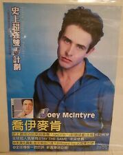 Joey McIntyre Solo Tour Asian Blue Promo Poster *Rare*Mint* New Kids Block