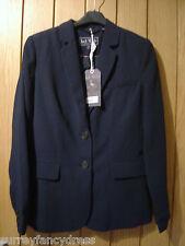 Jack Wills Nesbitt Crepe Navy Lined Blazer Jacket Size 8 NEW RRP £98.50 (Ref Z)
