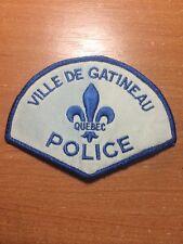 VINTAGE PATCH POLICE CANADA - VILLE DE GATINEAU - ( QUEBEC ) - ORIGINAL!