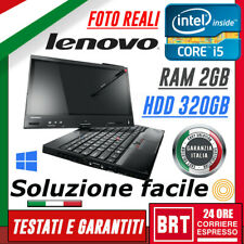 "PC NOTEBOOK LENOVO THINKPAD X230 TABLET 12"" CPU I5 3gen 2GB RAM 320GB HDD TOUCH!"