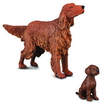 *NEW* CollectA 88068 88069 Irish Red Setter Dog & Puppy Group - Set of 2