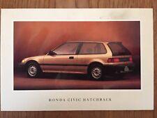 1990 Honda Civic Hatchback Factory Postcard mx8623
