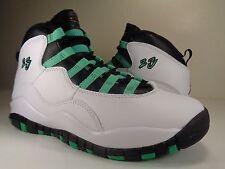 Nike Air Jordan 10 Retro 30TH GS White Black Turquoise Youth SZ 4Y (705180-118)