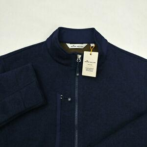 $198 Peter Millar Men`s Condor Sweater Fleece Jacket Size L XL Full Zip