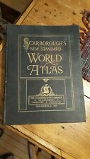 1911 Scarborough's New Standard WORLD ATLAS  100 Maps in Color