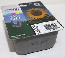 Epson T018 colore 37 ML Genuine Stylus colore 680 685 Cartuccia di inchiostro-IVA INC