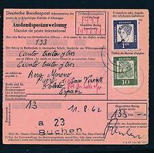 88446) Auslands - Postanweisung Bed.Deutsche MiF ab Buchen nach Spanien