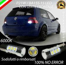 COPPIA LUCI RETROMARCIA 15 LED P21W BA15S CANBUS VW GOLF 4 IV 6000K NO AVARIA