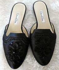 Oscar de La Renta Women's Shoes Size 6 Embellished Beaded Dress Black NWT $395.