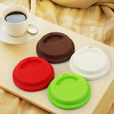 4x Reusable Coffee Tea Drinking Silicone Cup Lids Cup Mug Cover Silicone AU