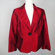 Lane Bryant  BLAZER, Ladies Jacket, SZ 14 shine burgundy red k3