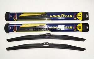 1985 Ford Tempo Goodyear Hybrid Style Wiper Blade Set of 2