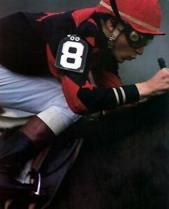 STEVE CAUTHEN 8X10 PHOTO HORSE RACING PICTURE JOCKEY