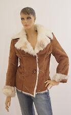 Jacke Damen Damenjacke braun beige Rauhlederoptik 36 (1702B-OH3#) 06/2020SD