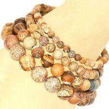 Handmade Natural Healing 4mm 6mm 8mm 10mm Gemstone Round Beads Stretch Bracelet