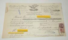 RECU 1937 : COMPAGNIE FRANCAISE du PHENIX - ASSURANCE INCENDIE + TIMBRE FISCAL