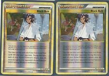 2X BLACK BELT 85/102 HS TRIUMPHANT Pokemon Card REV HOLO Uncommon Trainer MINT