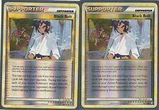 2X Black Belt 85/102 Hs Triumphant Pokemon Card Rev Holo Uncommon Trainer Mint