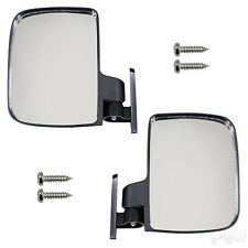 Set of 2 Universal Mirror Top Strut Mount Golf Cart Side View UTV Style