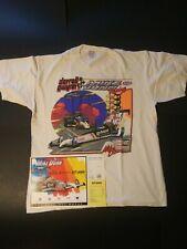 Vintage Darrell Gwynn / Mike Dunn Mopar Top Fuel Dragster T-Shirt & Handout Card