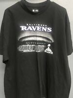 🏈NFL Super Bowl XLVII Mens Short Sleeve  T-Shirt Size 2XL Baltimore Ravens🏈
