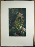 "Jean Lodge Print Original "" Autumn 1982 Signed Num 262/300 Engraving On Wood"