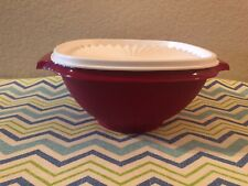 Tupperware Servalier Bowl 6 Cups Stacking Bowl Plum w/ White One Touch Seal New