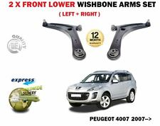 FOR PEUGEOT 4007 2.2 HDI 2.4 2007-> 2X FRONT LEFT RIGHT WISHBONE SUSPENSION ARMS