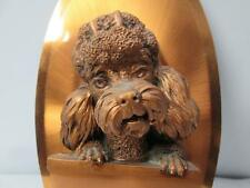 Copperama Dog 3D Sculpture Wall Hanging Poodle Copper Art Oval Plaque Victor