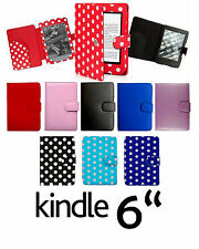 """for AMAZON KINDLE TOUCH PAPERWHITE K4 6"""" LEATHER CASE COVER  WITH FULL INTERIOR"""