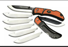 "OUTDOOR EDGE 3.5"" RazorLite EDC Orange Replaceable Blade Knife, 6 Blds RLB-30C"