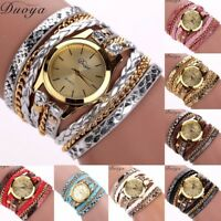 Women's Twist Weaving PU Leather Quartz Watch Lady Casual Wrist Bracelets Gifts