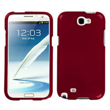 For Samsung Galaxy Note II 2 Solid Red Phone Protector Case Cover