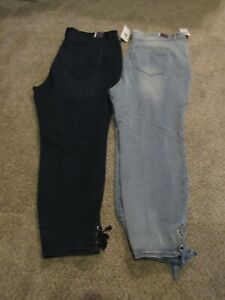 NWT Gloria Vanderbilt Plus Size 22W All-Around Slimming Effect Ankle Jeans Pants