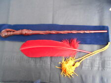 Enchanted. Phoenix Feather Wooden Magic Wand wizard/witch Harry Potter style