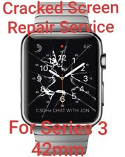 Cracked Screen Repair Service For Apple Watch Series 3 42mm GPS & Cellular. READ