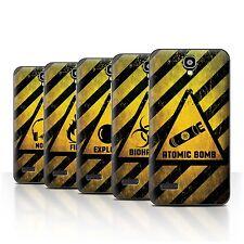 STUFF4 Back Case/Cover/Skin for Huawei Y5 /Y560/Hazard Warning Signs