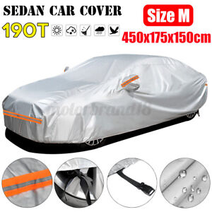 Car Cover Waterproof Sun UV Snow Dust Rain Resistant Protection M Size For  *