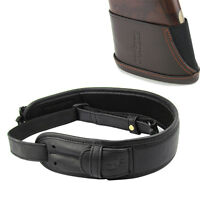 Tourbon Rifle Sling Shell Holder Swivels Set&Recoil Pad Slip-on Leather Shooting