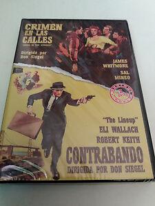 """DVD """"CRIMEN EN LAS CALLES / CONTRABANDO"""" 2DVD PRECINTADO SEALED DON SIEGEL"""