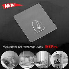 10pcs/Set Clear Anti-skid Hooks Reusable Transparent Traceless Wall Hanging Hook