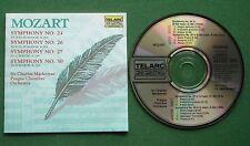 Mozart Symphonies 24 26 27 30 Prague Chamber Orchestra Charles Mackerras CD