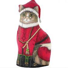 FIDDLER´S ELBOW Türstopper Katze Santa mit Brille - Weihnachten Weihnachtskatze