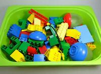 LEGO Duplo Konvolut 70 Teile Gemischte Steine Sonderteile  2x Ei alt vintage